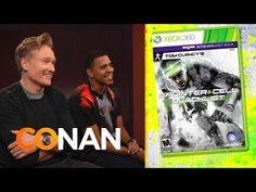 "Clueless Gamer: Conan Reviews ""Splinter Cell: Blacklist"" With J.Cole #ConanObrien #SplinterCell"