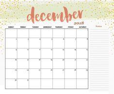 calendar for dec 2018
