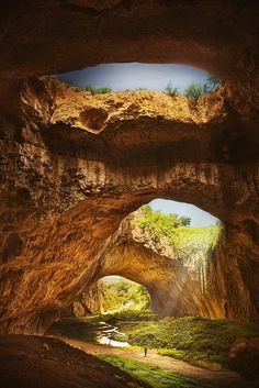 Devetashka Cave, Lovech Bulgaria 50 The Most Spectacular Sights In Europe – Part 3 Bulgaria Travel Destinations Places Around The World, Oh The Places You'll Go, Places To Travel, Places To Visit, Around The Worlds, Travel Destinations, Europe Places, Macedonia, Natural Wonders
