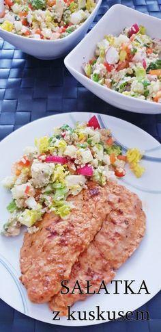 Przepisy na letnie sałatki - Damsko-męskie spojrzenie na kuchnię Risotto, Salad, Ethnic Recipes, Food, Bulgur, Salads, Meals, Lettuce