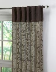 Damask Lace Inverted Pleat 120-inch Curtain Panel Pair