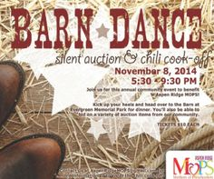 Local Event: Barn Dance, Silent Auction & Chili Cook-Off   Macaroni Kid #sponsored
