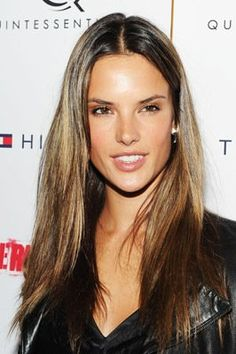 Alessandra Ambrosio  Middle parted hair...love this