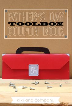 LOVE this Father's Day Toolbox Coupon Book. Free at kiki and company