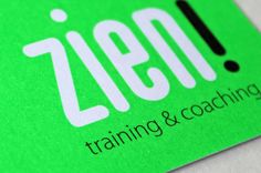 Design logo and businesscard Zien! training and coaching