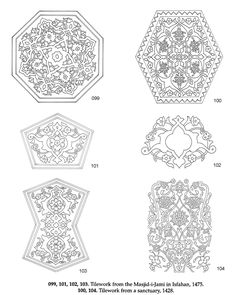 Welcome to Dover Publications Persian Designs and Motifs CD-ROM and Book Islamic Motifs, Islamic Art, Coloring Books, Coloring Pages, Sharpie Art, Turkish Art, Dover Publications, Card Patterns, Chalk Art