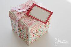 Yka handmade: Pastelová vianočná krabička