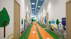 Wantvis » Детский сад School Building Design, School Design, Primary School, Pre School, School Wall Decoration, Montessori Kindergarten, Daycare Design, Hospital Design, Bedroom Furniture Design