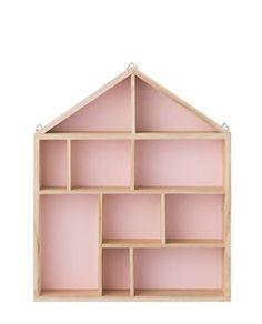 Holzhaus Setzkasten rosa