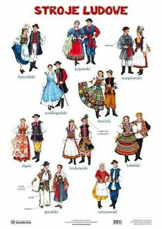 Via  Love Poland Folklore, Poland Costume, Folk Costume, Costumes, Harmony Day, Polish Language, Visit Poland, Polish Folk Art, Folk Clothing