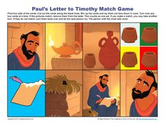 Paul's Letter to Timothy Match Game