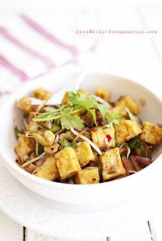 Ensalada picante de tofu con vinagreta de tamarindo. @foodandchic