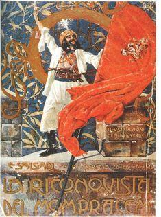 La Riconquista del Mompracem, 1908  Copertina di Alberto Della Valle