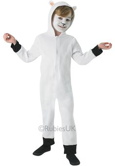 This lovable Sheep Costume for children features a comfy sheep jumpsuit with tail and hood. Kids Sheep Costume, Sheep Costumes, Diy Halloween Costumes For Kids, Halloween Costume Contest, T Shirt Costumes, Baby Costumes, Lamb Costume, Childrens Fancy Dress, Crochet Sheep