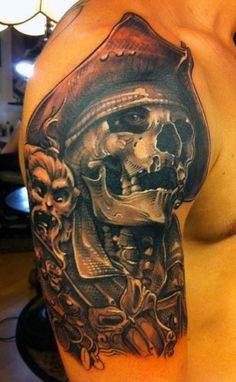 Pirate Style Men's Tattoo