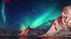 A beautiful aurora by Ashish S on @creativemarket