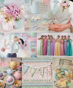 Inspirations pour mariage pastel