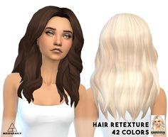 Mixed bag of clay hairs at Miss Paraply via Sims 4 Updates