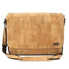 Messenger bag surface - shop for vegan cork bags by CorkLane Cork Purse, Plant Tissue, Cork Material, Unique Trees, Cork Fabric, Pen Holders, Peta, Shoulder Pads, Laptop Bag
