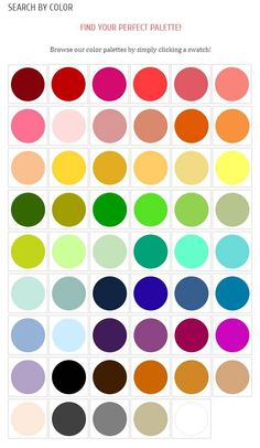 Perfect Color Combinations web help: color palette generator - home - creature comforts