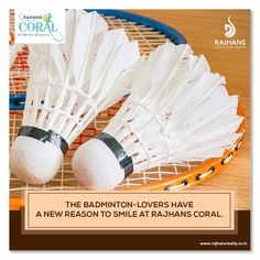 The badminton-lovers have a new reason to smile at #RajhansCoral #RajhansGroupOfIndustries