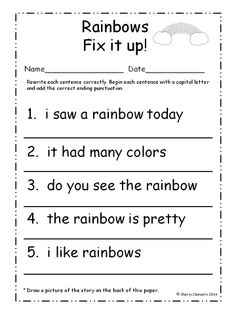 Capital letters worksheet students are asked to rewrite six march fix it up sentences capital letters and ending punctuation spiritdancerdesigns Gallery