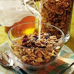 Pecan-Coconut Granola | This sweet-and-nutty granola is great as cereal, with yogurt, or as just a snack. | SouthernLiving.com