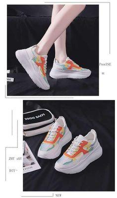 [leggycozy] Women's Luxury High Lace-Up Casual Vulcanized Platform Chunky Sneakers Chunky Sneakers, Athletic Women, High Heels, Platform, Lace Up, Luxury, Womens Fashion, Fashion Photography, Adidas