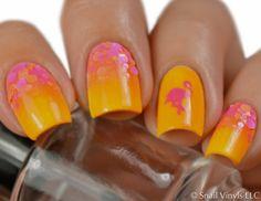 Flamingo Nail Decals/ Nail Stencils