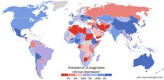 A stunning map of depression rates around the world - The Washington Post