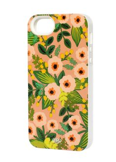 L:C Valentine's Gifts | Rifle Paper Co. Peach Floral iPhone 5 Case