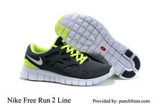 Mens Nike Running Shoes Free Run  2 Black Anthracite White Volt $62.28, www.punchfrees.com