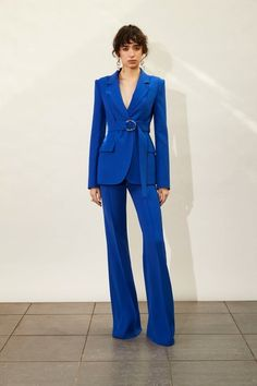 Adeam Pre-Fall 2020 Fashion Show - Vogue Suit Fashion, Blue Fashion, Fashion 2020, Look Fashion, Runway Fashion, Fashion Show, Fashion Dresses, Womens Fashion, Fashion Trends