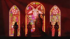 Ghost art - that stained glass in the background is absolutely lovely, by the way.