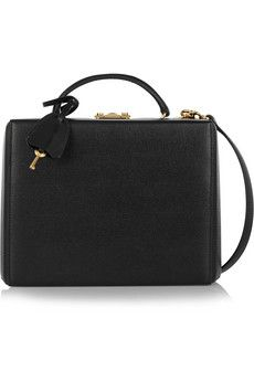 Mark Cross Grace textured-leather box shoulder bag | NET-A-PORTER