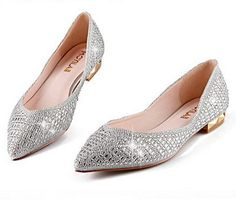 Find More Women's Flats Information about 2015 autumn new women's crystal rhinestone wedding loafers flat dress shoes wholesale good quality pointy fashion ballet flats,High Quality Women's Flats from Toptrade Co.,ltd on Aliexpress.com