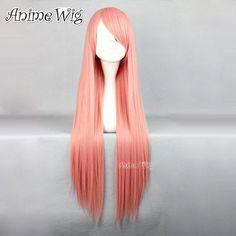 witch-in-gleamgarden-80cm-Rosa-Anime-cosplay-Peruecke-Haarnetz-Halloween-Girls