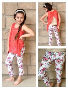 We can't get over this adorable top and these floral pants!!