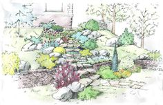 Work from Morozova Lada a landscape architect from Moscow.  http://landarchs.com/category/sketchy-saturday/