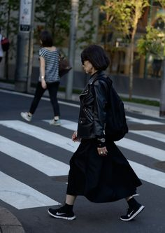 Rare candid of Rei Kawakubo, Comme des Garcons, Tokyo