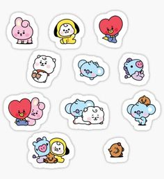 Buy Baby MANG Set' by as a Sticker, Transparent Sticker, or Glossy Sticker Stickers Kawaii, Pop Stickers, Tumblr Stickers, Printable Stickers, Bullet Journal Kpop, Bts Tickets, Korean Stickers, Kpop Diy, Kpop Drawings