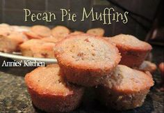 ✿´¯`*•.¸¸✿ SHARE SHARE SHARE ✿´¯`*•.¸¸✿  These ooey gooey treats are amazing!!!    PECAN PIE MUFFINS  ...  Great portable treat to serve at a Graduation party or even take to the office and share...  Makes 24 mini muffins  1 cup packed light brown sugar 1/2 cup all-purpose flour 1 cup chopped pecans 2/3 cup butter, softened 2 eggs, beaten 1 tsp vanilla  Directions Preheat oven to 350 degrees F (175 degrees C). Grease 24 mini muffin cups. In a medium bowl, stir together brown sugar, flour and…