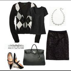 Black argyle & sparkle..