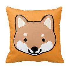 Shiba Inu Dog Faces Pillow