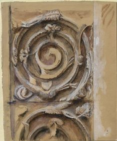 Ruskin, John - Sculpture from the right Jamb of the north Door of the west Front of Rouen Cathedral
