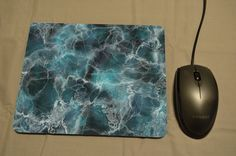 BLUE MARBLE, Marble Print, Marble Pattern, Mouse Mat, Mousepad,  Desk Decor PC Computer Accessory Graduation Qualified Birthday New Job Gift by MillHillSublimation on Etsy