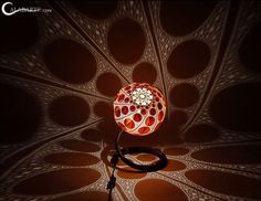 DIY Carved African Gourd (Calabash) Lamps