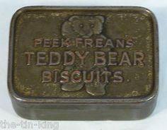 "Super RARE Antique Peek Freans ""Teddy Bear Biscuits"" Tin C1920 | eBay"