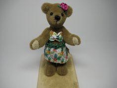 "Miniature OOAK teddy bear ""Lenaia"" by CherylHubbardMinis on Etsy Cheryl, Miniatures, Teddy Bear, Toys, Unique Jewelry, Handmade Gifts, Animals, Vintage, Activity Toys"