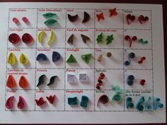 25 forme principale in quilling